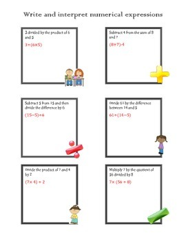 Common Core Aligned Order of Operations