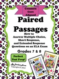 Paired Passages for Grades 7 and 8