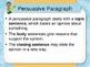 Common Core Aligned Persuasive Writing Slides- EDITABLE