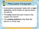 Common Core Aligned Persuasive Writing Slides- EDITABLE