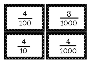 Common Core Aligned Place Value Task Cards! (Word, Decimal, and Fraction Form)