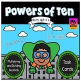 Powers of Ten Task Cards