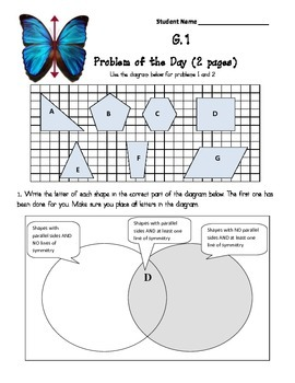 Common Core Aligned Problems of the Day:  Geometry