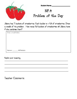 Common Core Aligned Problems of the Day:  Multiplying Fractions