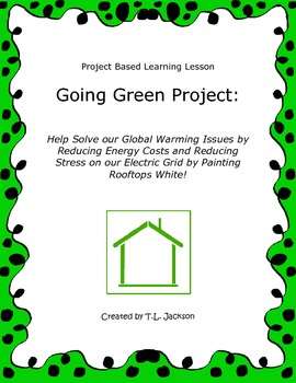 Common Core Aligned Project Based Learning - Going Green (Area & Perimeter)