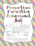 Proportions Formative Assessment Set ~Aligned to 7.RP.2 & 7.RP.3~
