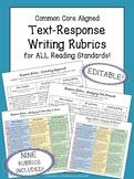Written Response Rubrics | ELA Rubrics for Middle School | EDITABLE