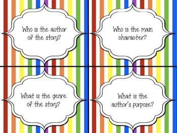 Common Core Aligned Reading Comprehension Task Cards (2nd/3rd grade)