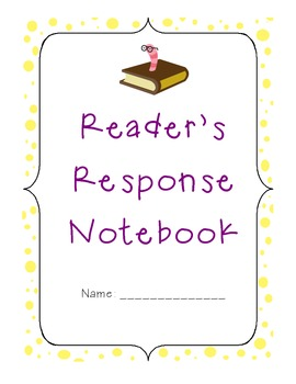 Common Core Aligned Reading Response Notebook