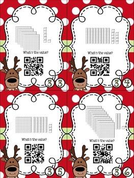 Reindeer Games Place Value Bundle with QR Codes