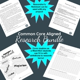Common Core Aligned Research Writing Bundle for Any Project Grades 6-12!