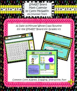 Math Calendar/Calendar Math for SmartBoard: Gr 4-5 Common