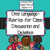Common Core Aligned Speaking and Listening Rubrics