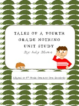 Common Core Aligned- Tales of a Fourth Grade Nothing Unit Study