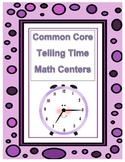 Common Core Aligned Telling Time Centers