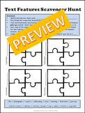 Common Core Aligned - Text Features Scavenger Hunt.