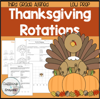 Common Core Aligned Thanksgiving Rotations (3rd Grade)