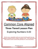 Common Core Aligned Three Tiered Ordering Numbers Lesson