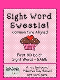 Common Core Aligned VALENTINES DAY SIGHT WORD SWEETIE DOLCH WORD GAME -First 100