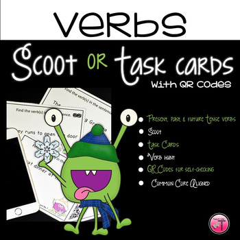 Common Core Aligned Verb Tenses Scoot Game or Task Cards