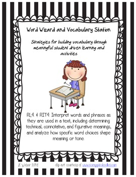 Common Core Aligned Vocabulary Kit