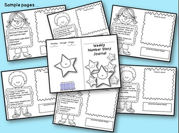 Common Core Aligned ~ Weekly Number Story Journals
