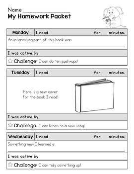Interactive and Fun Reading/Activity/Homework Logs UPDATED!!