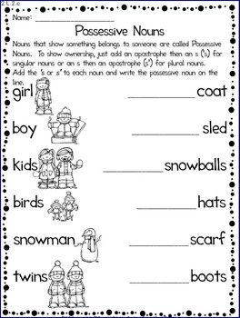 Common Core Aligned Winter Math & English Language Arts Print & Go Reproducibles