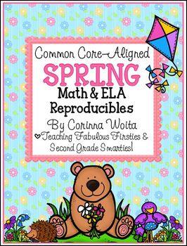 Common Core Aligned Spring Math & English Language Arts Print & Go Reproducibles