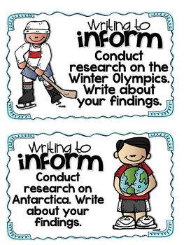 Winter Writing Prompts and Pages