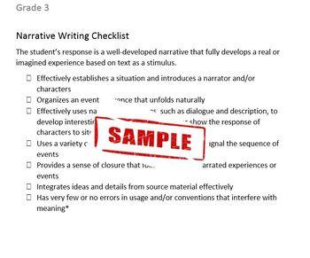 Common Core Aligned Writing Checklist (Grade 3)