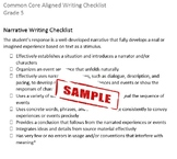 Common Core Aligned Writing Checklist (Grade 5)