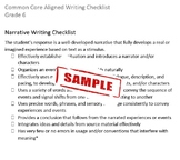 Common Core Aligned Writing Checklist (Grade 6)