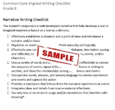 Common Core Aligned Writing Checklist (Grade 8)