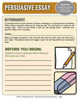 Common Core Aligned Writing Projects:  Persuasive Essays:  An Intro for Gr. 3-6