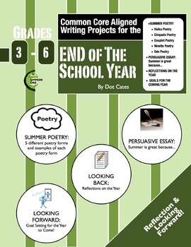 Common Core Aligned Writing Projects:  Writing for the End of the Year:  Gr. 3-6