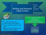 Common Core Aligned Writing and Research Daily Practice