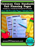 Common Core Alignment Planning Sheets {Organizer, Thematic
