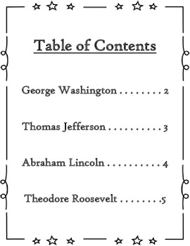 Common Core- All About Mount Rushmore Presidents- Research Report Template