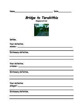 Common Core Aligned Bridge to Terabithia Novel Study