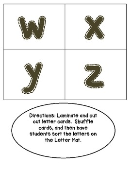 Common Core Alphabet Sort