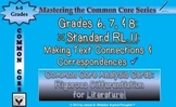 Common Core Analysis Cards 6, 7, 8 RL.11 Making Connections/Correspondences