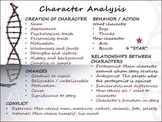 Common Core Anchor Chart Poster - Character Analysis Readi