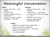 Common Core Anchor Chart Poster Speaking & Listening Collaborative Discussions