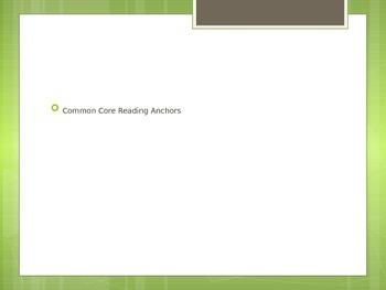 Common Core Anchor Reading Strategies