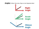 Math Geometry Angles - Right, Obtuse, Acute powerpoint Com