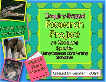 Common Core Animal Inquiry Research and Writing Project Grades 3-5