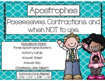 Common Core Apostrophe Task Cards