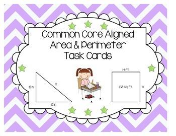 Common Core Area & Perimeter Task Cards