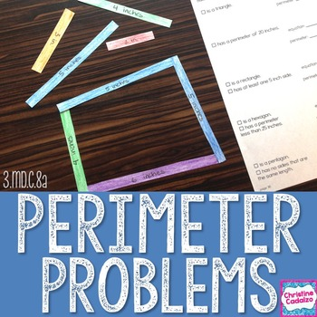 Perimeter Problems Math Unit